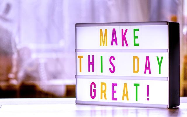 udělat lepší den