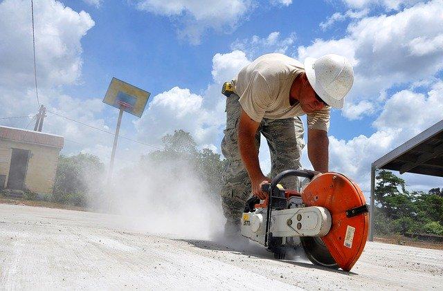 práce v prašném prostředí